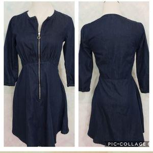 Topshop Moto blue denim dress Size 0